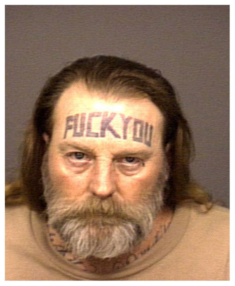 These are GENUINE police mugshots.
